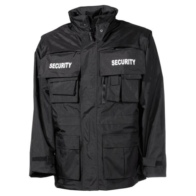 """Jacke, """"Security"""", schwarz, wasserdicht, antistatisch"""