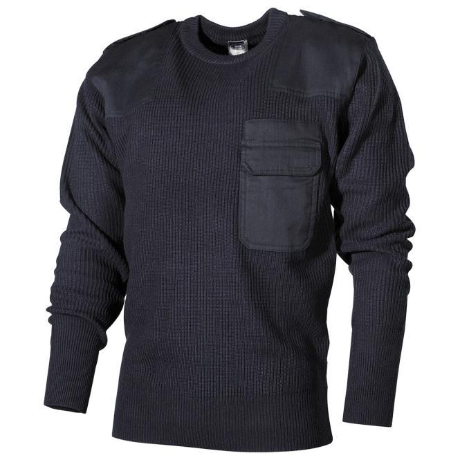 BW Pullover, mit Brusttasche, blau