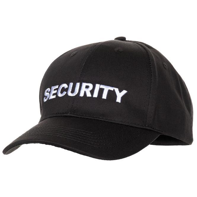 """US Cap, mit Schild, schwarz, bestickt, """"SECURITY"""""""