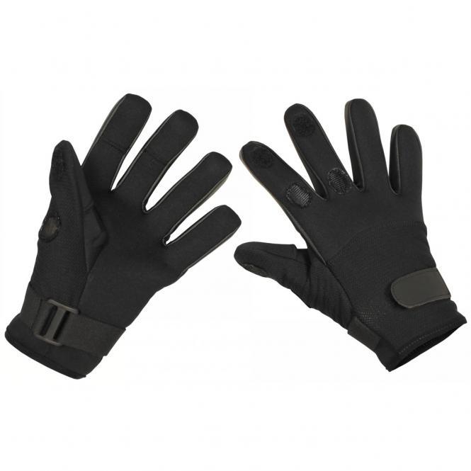 """Fingerhandschuhe, """"Mesh"""", Neopren, schwarz"""