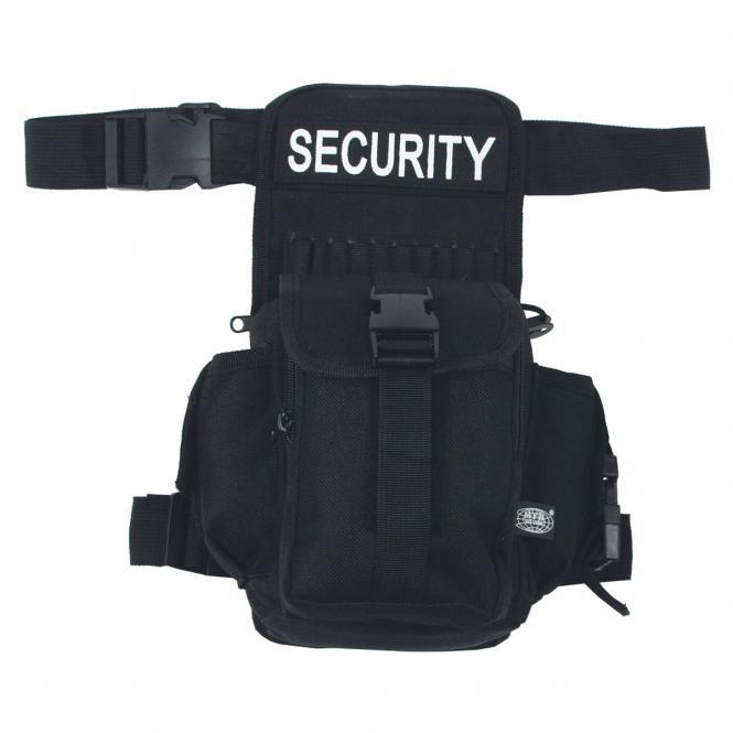 Hüft-, Oberschenkeltasche, SECURITY, schwarz
