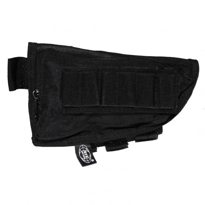 Gewehrschaft-Tasche, schwarz, gefüttert