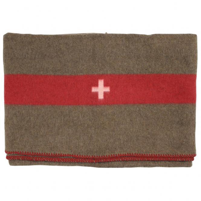 Schweiz. Wolldecke, braun, 200 x 150 cm