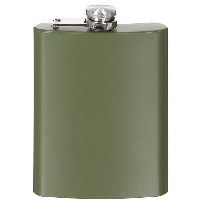 Flachmann, Edelstahl, oliv, 8 OZ, 225 ml