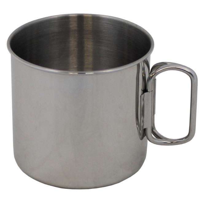 Tasse, Edelstahl, Klappgriffe, 450 ml
