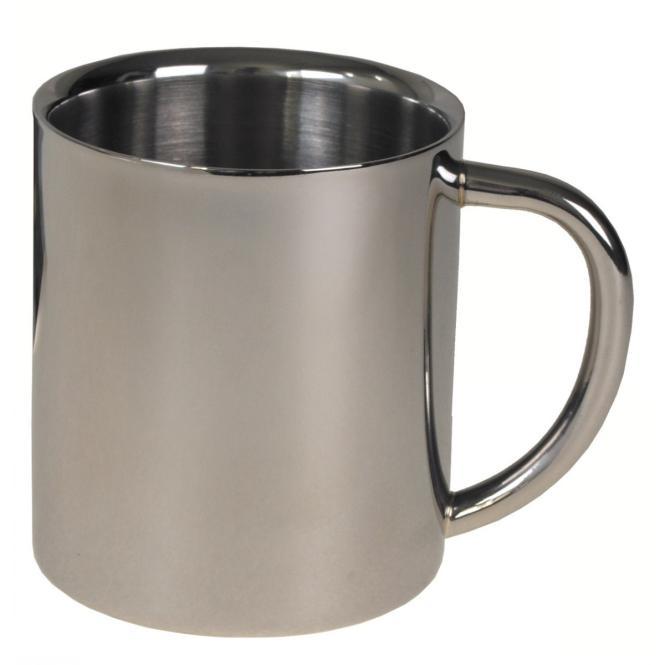 Tasse, Edelstahl, doppelwandig, 250 ml