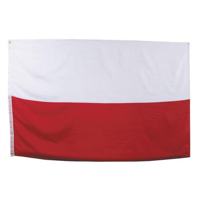 Fahne, Polen, Polyester, Gr. 90 x 150 cm