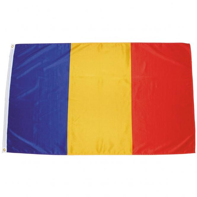 Fahne, Rumänien, Polyester, Gr. 90 x 150 cm