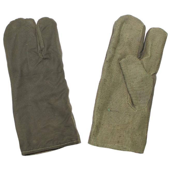 Armee Arbeitshandschuhe, 3 Finger, oliv, neuwertig