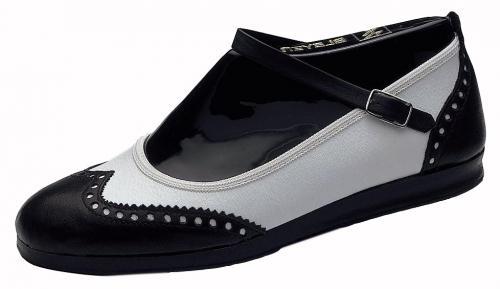 7141 Lindy Hopper Strap, Marke Bleyer, schwarz/weiß