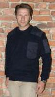 Natopullover, marineblau, mit Brusttasche, 100 % Schurrwolle