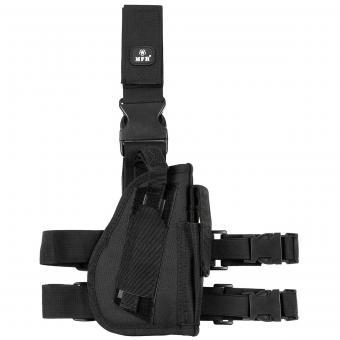 Pistolenbeinholster, rechts, schwarz