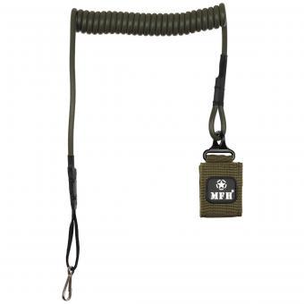 Sicherheitsband für Pistole, oliv, mit Karabiner