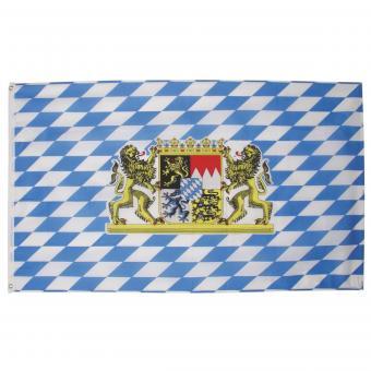 Fahne, Bayern mit Löwen, Polyester, 90 x 150 cm