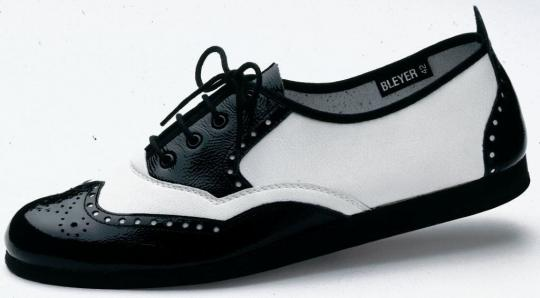 7134-N Nappaleder, schwarz/weiß, Marke Bleyer, kein Versand