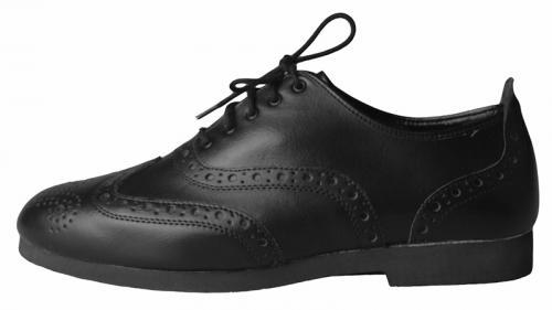 7539 Charleston mit Ledersohle, schwarz, Marke Bleyer, kein Versand